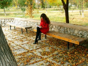 Woman-Write-Bench-300x225